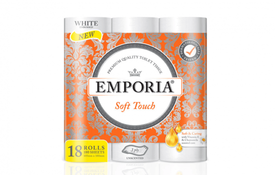 New EMPORIA Soft Touch with Vitamin E and Chamomile scented core