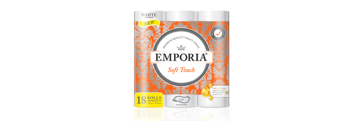 New EMPORIA Soft Touch with Vitamin E and Chamomile scented core